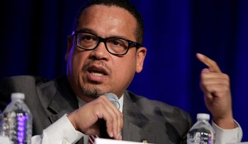 Rep. Keith Ellison (D-MN) speaks during a Democratic National Committee forum in Baltimore, Maryland, U.S., February 11, 2017.