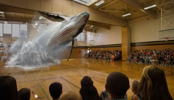 An example of the company Magic Leap's augmented reality.