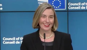 EU foreign policy chief Federica Mogherini speaks about Trump's Jerusalem move on Dec 11, 2017