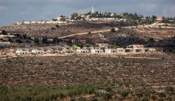 The settlement of Shiloh in the West Bank.
