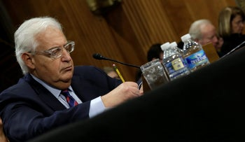 David Friedman testifies before a Senate Foreign Relations Committee hearing on his nomination to be U.S. ambassador to Israel, on Capitol Hill in Washington, U.S., February 16, 2017.