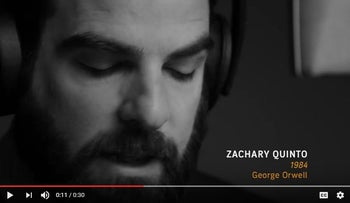 "Audible Oscars Commercial: Zachary Quinto - ""1984"""