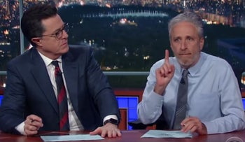 Jon Stewart returns to the 'Late Show with Stephen Colbert': It's time for the media to get it's groove back.