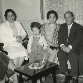 Edwin Shuker as a child and family members in Iraq.
