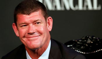 File photo: Australian businessman and founder of Australia's Crown Ltd, James Packer, at a business event in Sydney on October 25, 2015.