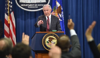 U.S. Attorney General Jeff Sessions answers questions during a press conference at the U.S. Justice Department in Washington, D.C., March 2, 2017.