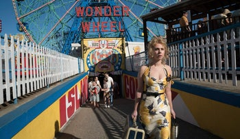 This image released by Amazon Studios shows Juno Temple in a scene from 'Wonder Wheel.'