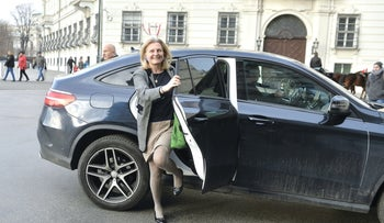 Designated Foreign Minister Karin Kneissl on December 17, 2017 at the Hofburg palace in Vienna.