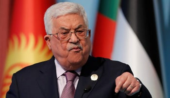 Palestinian President Mahmoud Abbas speaks during a news conference following the extraordinary meeting of the Organisation of Islamic Cooperation (OIC) in Istanbul, Turkey, December 13, 2017