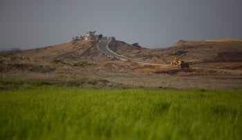 The border with the Gaza Strip, March 2, 2017.