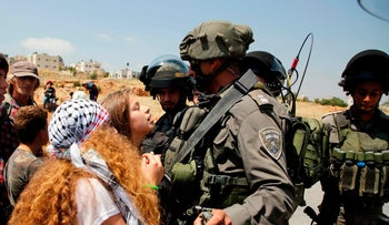 May 12, 2017: Ahed Tamimi protesting in the West Bank.