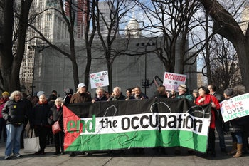 FILE PHOTO: Pro-Palestinian protest in New York City.