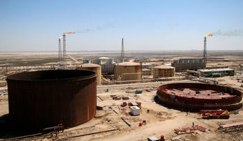 FILE PHOTO: A general view shows the al-Shuaiba oil refinery in southwest Basra, Iraq April 20, 2017.