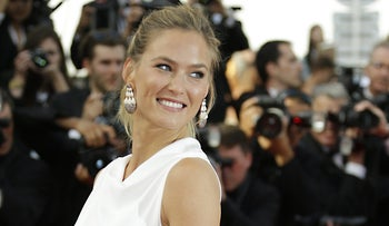 Bar Refaeli arrives for the opening ceremony and the screening of 'La Tete Haute' at the Cannes film festival, on May 13, 2015.