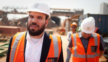 Israeli billionaire Dan Gertler takes a tour of the Katanga Mining Ltd. copper and cobalt mine complex in Kolwezi, Democratic Republic of Congo, August 1, 2012.