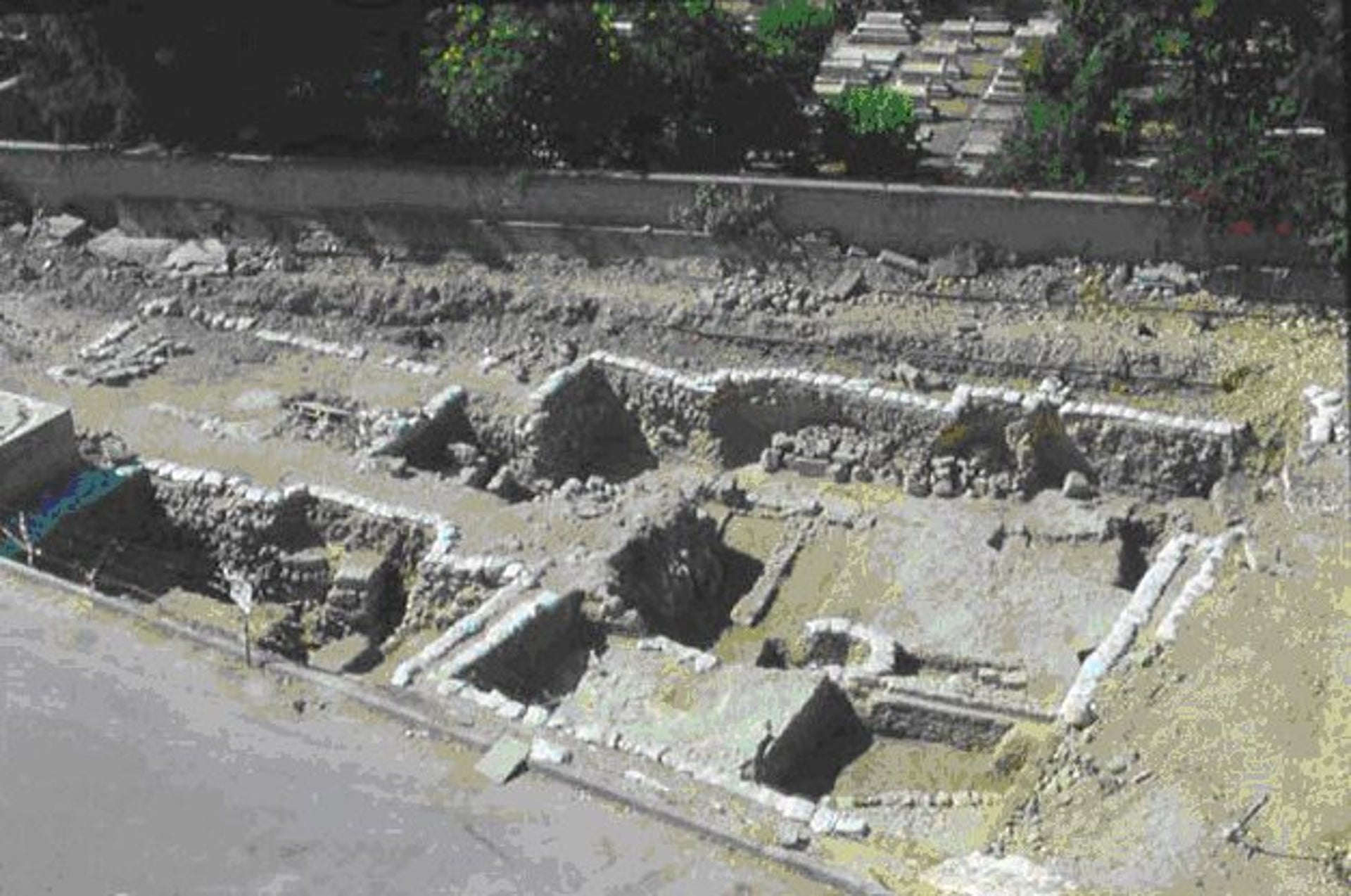 Excavation trench: Crusader remains found in Acre.