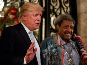 Donald Trump, as president-elect, with boxing promoter Don King in Florida, December 2016.