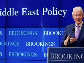 Bill Clinton at the Brookings Institution event to discuss 'Yitzhak Rabin: Soldier, Leader, Statesman,' March 9, 2017,