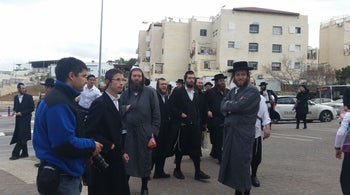 Ultra-Orthodox men confront visiting lawmakers in Beit Shemesh
