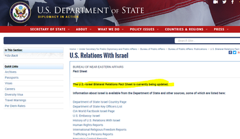 Blank page for Israel factsheet on state.gov