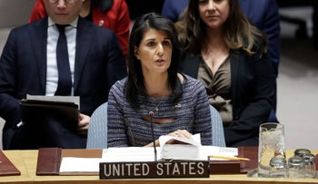 U.S. Ambassador to the United Nations Nikki Haley New York, U.S., December 22, 2017
