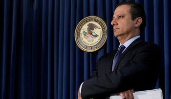 Preet Bharara, U.S. Attorney for the Southern District of New York, attends a news conference in New York City, U.S. May 19, 2016.
