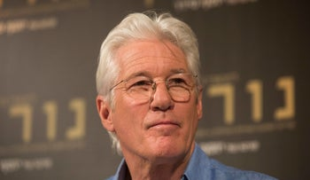 Richard Gere during a press conference at the Israeli premiere of the 'Norman: The Moderate Rise and Tragic Fall of a New York Fixer' movie, in Jerusalem, March 9, 2017.