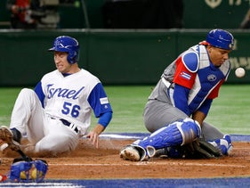 World Baseball Classic: Israel's Ty Kelly scores in the sixth inning against Cuba in Tokyo, Japan, March 12, 2017.