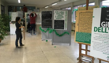 Italian middle school Sandro Pertini in Vercelli hosts exhibit in March 2017 about Muslims who saved Jews during the Holocaust, as part of a program about the World War Two genocide and the risks of discrimination against minorities.