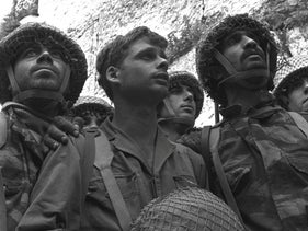 David Rubinger's famous photo of Israeli soldiers in Jerusalem during the 1967 war.