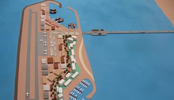 A drawing of the proposed island off the Gaza Strip.
