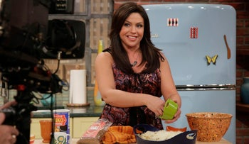 This Tuesday, Oct. 5, 2010 photo shows Rachael Ray on her New York cooking show.