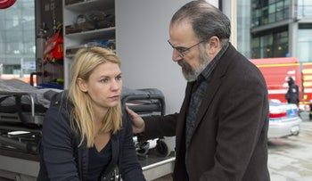 Claire Danes and Mandy Patinkin as Carrie Mathison and Saul Berenson in 'Homeland.' Tangled up in Iran.