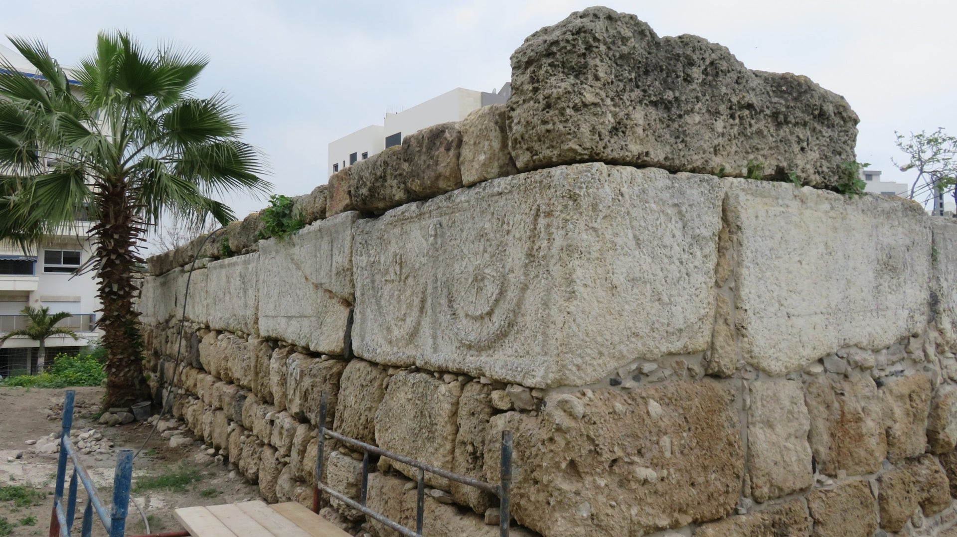 The remains of the Crusader fortress Twain mentions in El Fuleh, in the center of today's Afula.