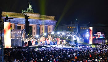 FILE PHOTO: New Year's Eve celebrations at the Brandenburg Gate in Berlin, Germany.