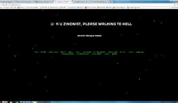 Screenshot of the hacked Walk for Israel website. March 15, 2017.