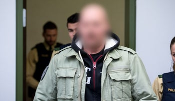 "Defendant Markus W. at court for the ""Oldschool Society"" trial in Germany. March 15, 2017."