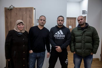 Members of the Sumreen family at Jerusalem Magistrate's Court, January 1, 2018.