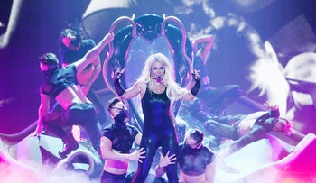 Britney Spears performs during her Britney: Piece Of Me Show at Planet Hollywood Casino Resort on August 15, 2014 in Las Vegas, Nevada.