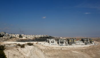 The West Bank settlement of Ma'aleh Adumim, January 2017.