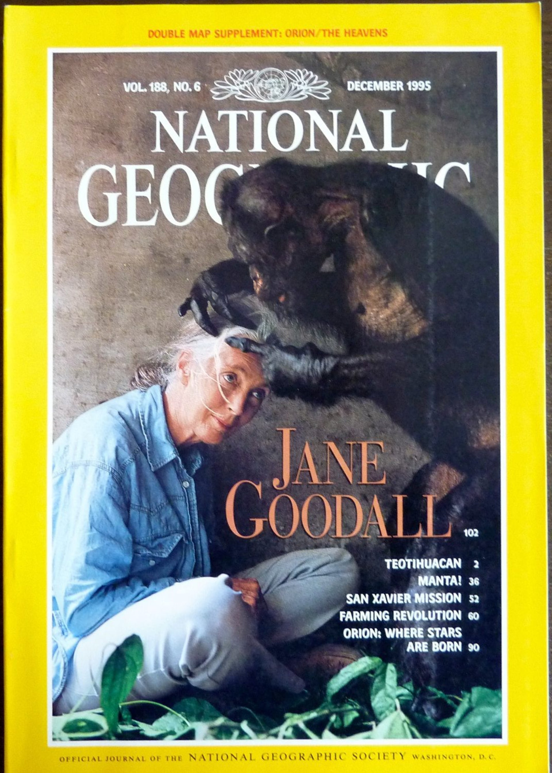 The cover of National Geographic in 1995.