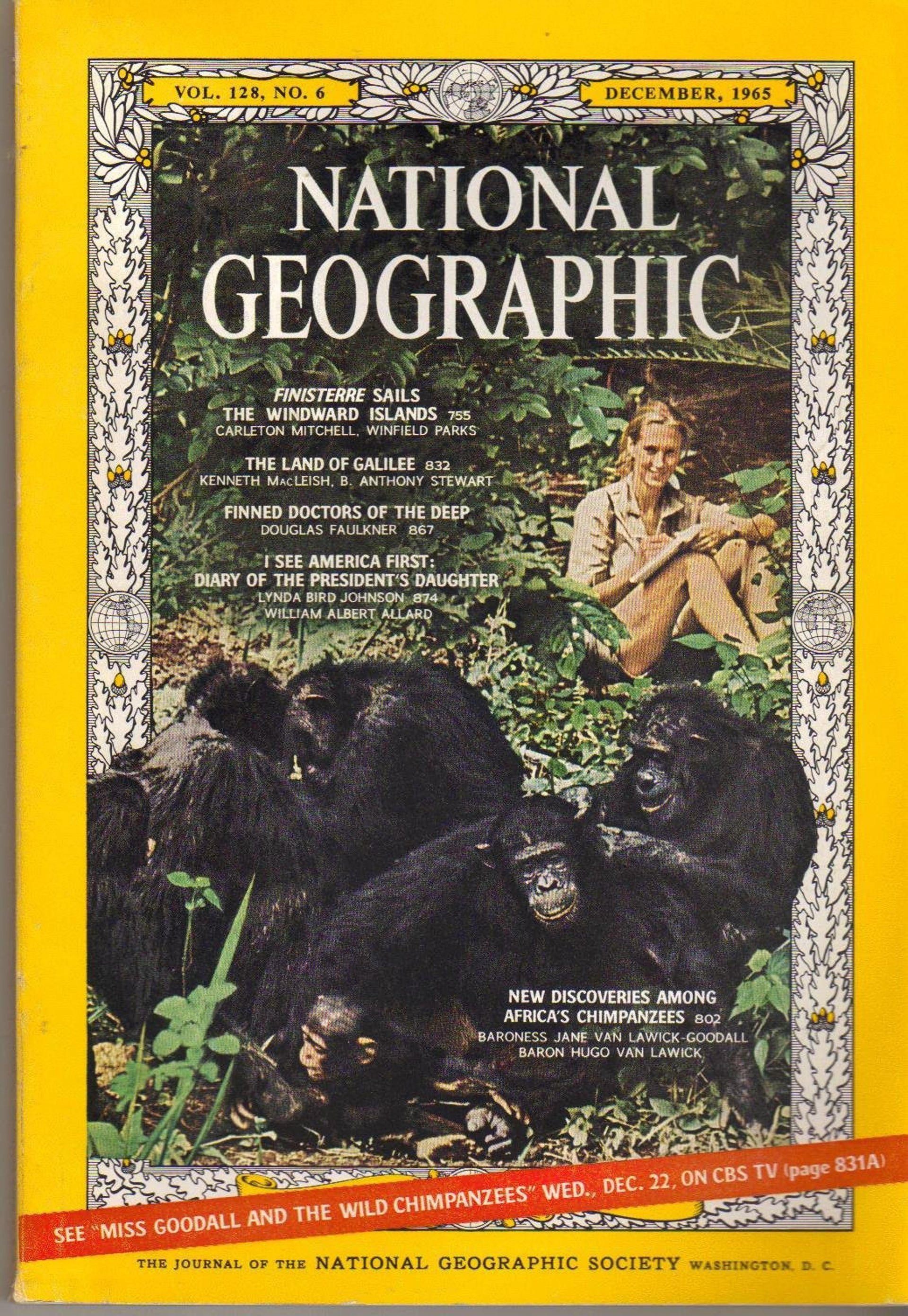 The cover of National Geographic in 1965.