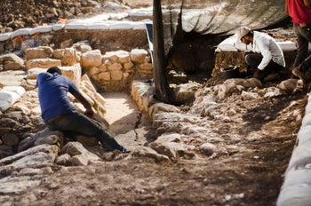 The excavation at the site