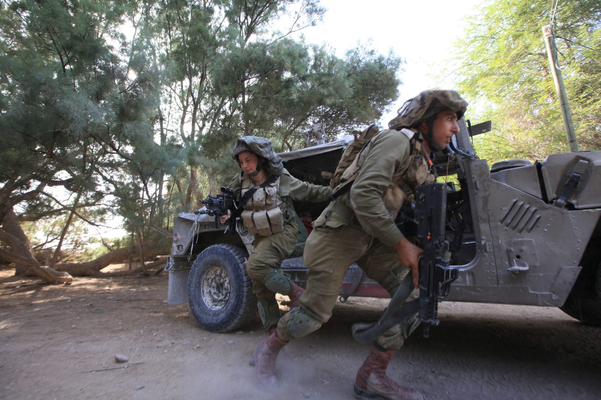 Israeli fighters in the mixed-gender Caracal battalion, October 2016.
