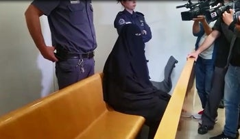 Sabareen Zabidat in court for sentencing on Tuesday, March 21, 2017.