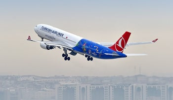 A Turkish Airlines flight.
