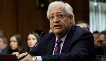 The JFNA say they're neutral and consensus-based. But the Chair of their Board of Trustees lent his support to David Friedman.