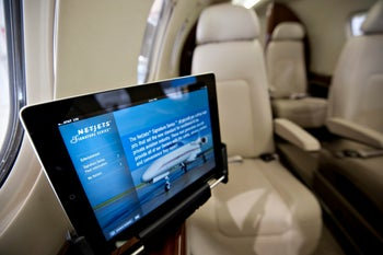 iPad on board a plane
