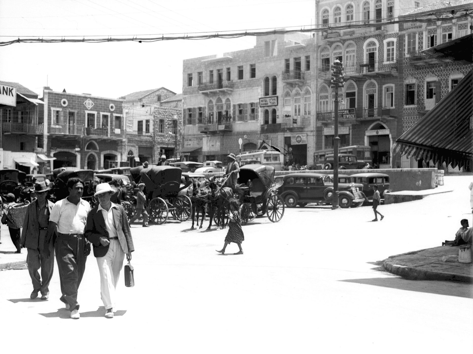 Hamra square in Haifa, 1934.