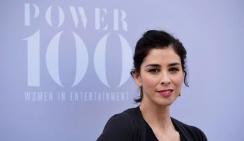 Comedian and actress Sarah Silverman attends Women in Entertainment Breakfast, 2015